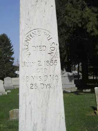 WILSON, VALENTINE - Madison County, Ohio   VALENTINE WILSON - Ohio Gravestone Photos