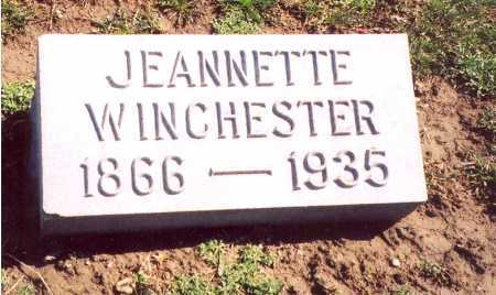 "WINCHESTER, JEANNETTE ""NETTIE"" - Madison County, Ohio 