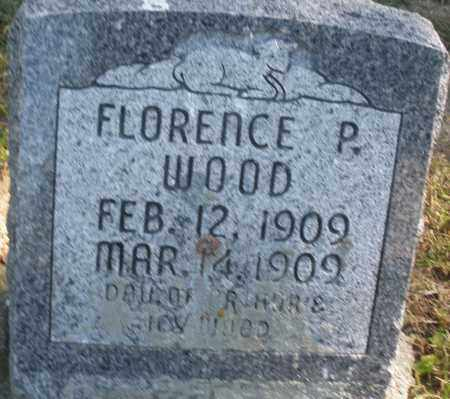 WOOD, FLORENCE P. - Madison County, Ohio | FLORENCE P. WOOD - Ohio Gravestone Photos