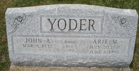 YODER, ARIE M. - Madison County, Ohio | ARIE M. YODER - Ohio Gravestone Photos
