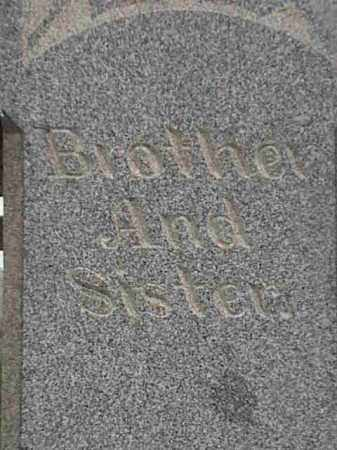 BROTHER AND, SISTER - Mahoning County, Ohio   SISTER BROTHER AND - Ohio Gravestone Photos