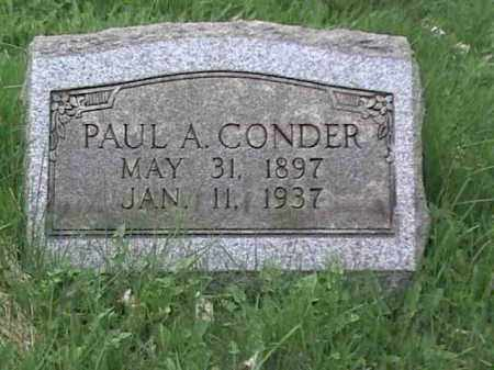 CONDER, PAUL A. - Mahoning County, Ohio | PAUL A. CONDER - Ohio Gravestone Photos