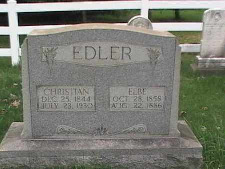 EDLER, CHRISTIAN & ELBE - Mahoning County, Ohio | CHRISTIAN & ELBE EDLER - Ohio Gravestone Photos