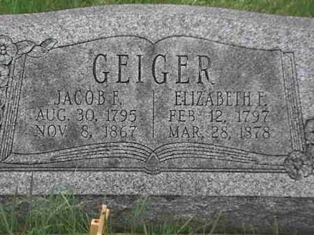 GEIGER, ELIZABETH F. - Mahoning County, Ohio | ELIZABETH F. GEIGER - Ohio Gravestone Photos