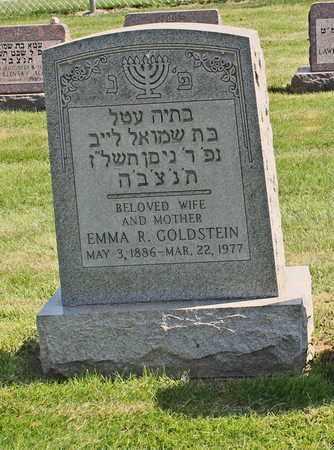 RUBINSOHN GOLDSTEIN, EMMA - Mahoning County, Ohio | EMMA RUBINSOHN GOLDSTEIN - Ohio Gravestone Photos