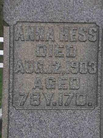 HESS, ANNA - Mahoning County, Ohio | ANNA HESS - Ohio Gravestone Photos