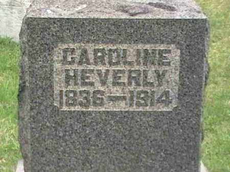 HEVERLY, CAROLINE - Mahoning County, Ohio | CAROLINE HEVERLY - Ohio Gravestone Photos
