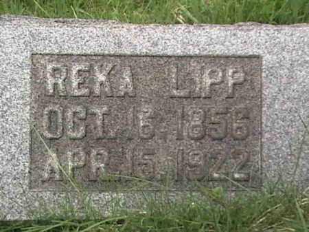 LIPP, REKA - Mahoning County, Ohio | REKA LIPP - Ohio Gravestone Photos