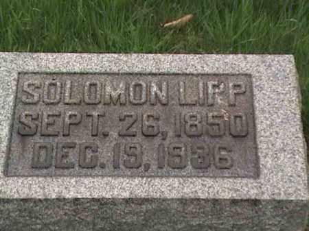 LIPP, SOLOMON - Mahoning County, Ohio | SOLOMON LIPP - Ohio Gravestone Photos