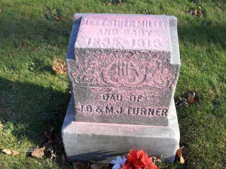 TURNER MILLER, ESTHER - Mahoning County, Ohio | ESTHER TURNER MILLER - Ohio Gravestone Photos