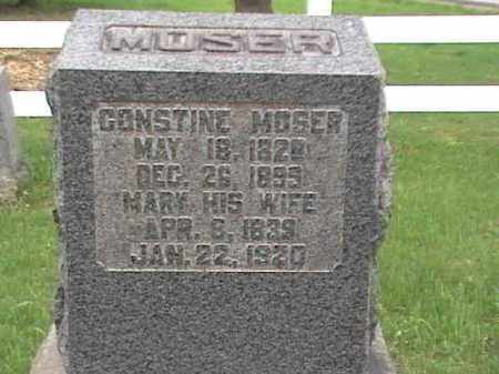 MOSER, CONSTINE & MARY - Mahoning County, Ohio | CONSTINE & MARY MOSER - Ohio Gravestone Photos