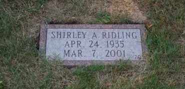 PRATER RIDLING, SHIRLEY A. - Mahoning County, Ohio | SHIRLEY A. PRATER RIDLING - Ohio Gravestone Photos