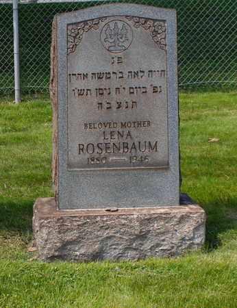 ROSENBAUM, LENA - Mahoning County, Ohio | LENA ROSENBAUM - Ohio Gravestone Photos