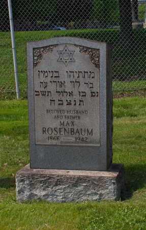 ROSENBAUM, MAX - Mahoning County, Ohio | MAX ROSENBAUM - Ohio Gravestone Photos
