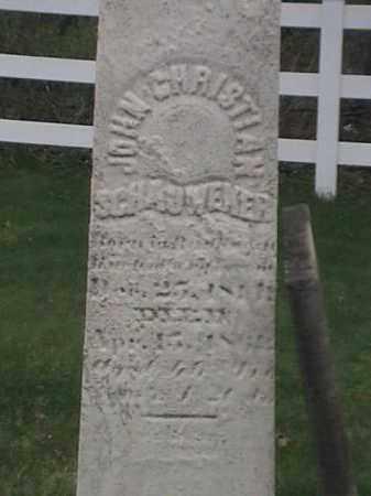 SCHAUWEHER, JOHN CHRISTIAN - Mahoning County, Ohio | JOHN CHRISTIAN SCHAUWEHER - Ohio Gravestone Photos