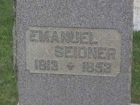 SEIDNER, EMANUEL - Mahoning County, Ohio | EMANUEL SEIDNER - Ohio Gravestone Photos