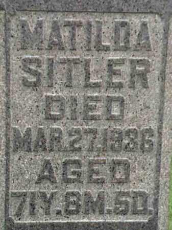 SITLER, MATILDA - Mahoning County, Ohio | MATILDA SITLER - Ohio Gravestone Photos