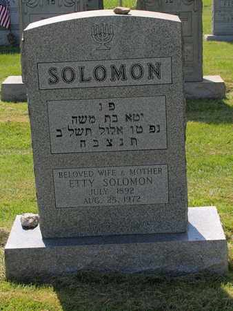 SOLOMAN, ETTY - Mahoning County, Ohio | ETTY SOLOMAN - Ohio Gravestone Photos