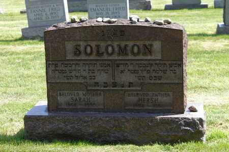 SOLOMON, HERSH - Mahoning County, Ohio | HERSH SOLOMON - Ohio Gravestone Photos