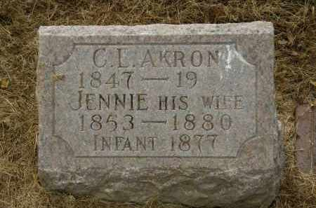 AKRON, JENNIE - Marion County, Ohio | JENNIE AKRON - Ohio Gravestone Photos