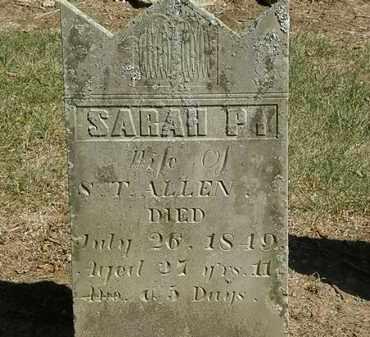 ALLEN, SARAH P. - Marion County, Ohio | SARAH P. ALLEN - Ohio Gravestone Photos