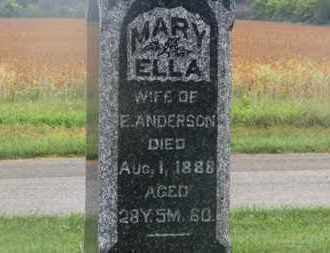 ANDERSON, E. - Marion County, Ohio | E. ANDERSON - Ohio Gravestone Photos