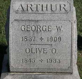 ARTHUR, GEORGE W. - Marion County, Ohio | GEORGE W. ARTHUR - Ohio Gravestone Photos