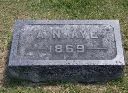 AYE, A.N. - Marion County, Ohio | A.N. AYE - Ohio Gravestone Photos