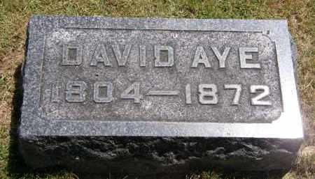AYE, DAVID - Marion County, Ohio | DAVID AYE - Ohio Gravestone Photos
