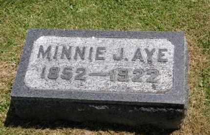 AYE, MINNIE J. - Marion County, Ohio | MINNIE J. AYE - Ohio Gravestone Photos