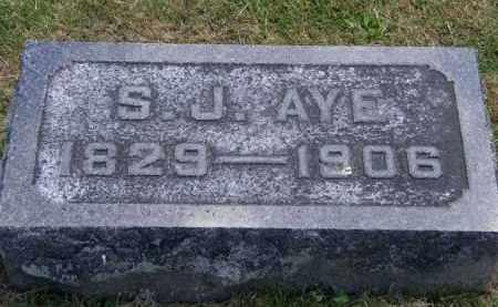 AYE, S.J. - Marion County, Ohio | S.J. AYE - Ohio Gravestone Photos
