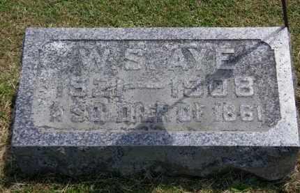 AYE, W.S. - Marion County, Ohio | W.S. AYE - Ohio Gravestone Photos