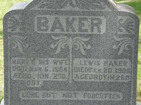 BAKER, MARY S. - Marion County, Ohio | MARY S. BAKER - Ohio Gravestone Photos