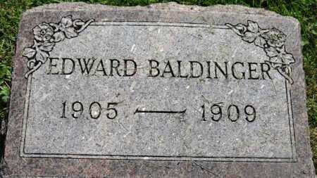 BALDINGER, EDWARD - Marion County, Ohio | EDWARD BALDINGER - Ohio Gravestone Photos