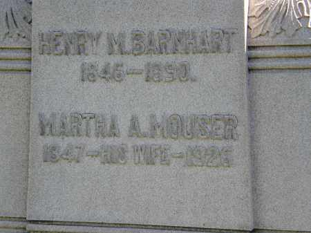 MOUSER BARNHART, MARTHA A. - Marion County, Ohio | MARTHA A. MOUSER BARNHART - Ohio Gravestone Photos