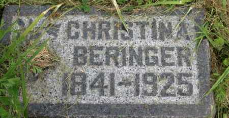 BERINGER, CHRISTINA - Marion County, Ohio | CHRISTINA BERINGER - Ohio Gravestone Photos