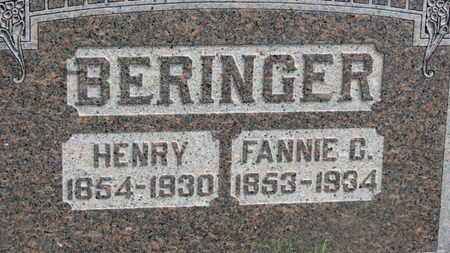 BERINGER, FANNIE G. - Marion County, Ohio | FANNIE G. BERINGER - Ohio Gravestone Photos