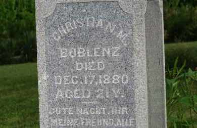 BOBLENZ, CHRISTIAN M. - Marion County, Ohio | CHRISTIAN M. BOBLENZ - Ohio Gravestone Photos
