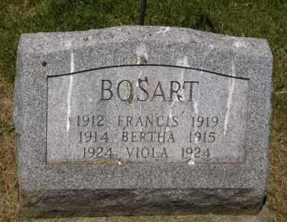 BOSART, FRANCIS - Marion County, Ohio | FRANCIS BOSART - Ohio Gravestone Photos