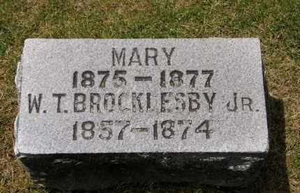 BROCKLESBY, W.T. JR. - Marion County, Ohio | W.T. JR. BROCKLESBY - Ohio Gravestone Photos