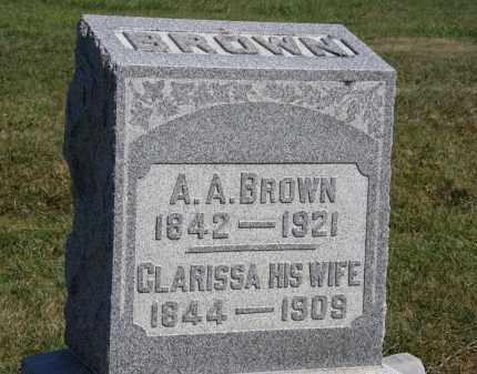 BROWN, A.A. - Marion County, Ohio | A.A. BROWN - Ohio Gravestone Photos