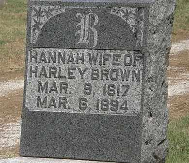 BROWN, HANNAH - Marion County, Ohio | HANNAH BROWN - Ohio Gravestone Photos