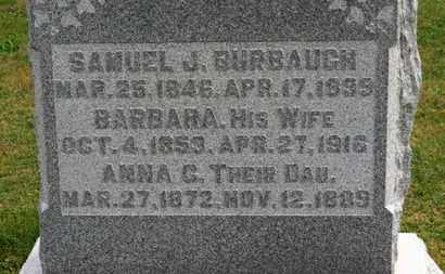 BURBAUGH, SAMUEL J. - Marion County, Ohio | SAMUEL J. BURBAUGH - Ohio Gravestone Photos