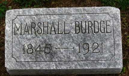 BURDGE, MARSHALL - Marion County, Ohio | MARSHALL BURDGE - Ohio Gravestone Photos