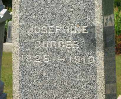 BURGER, JOSEPHINE - Marion County, Ohio | JOSEPHINE BURGER - Ohio Gravestone Photos