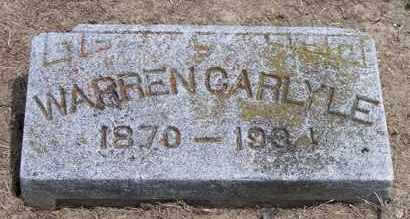 CARLYLE, WARREN - Marion County, Ohio   WARREN CARLYLE - Ohio Gravestone Photos