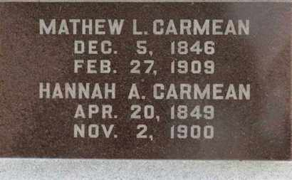 CARMEAN, MATHEW L. - Marion County, Ohio | MATHEW L. CARMEAN - Ohio Gravestone Photos