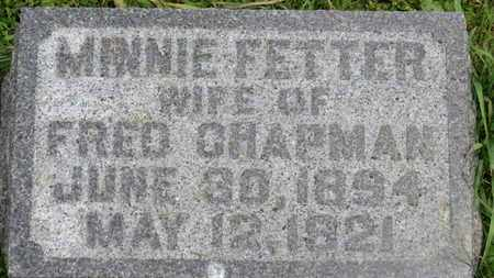 CHAPMAN, MINNIE - Marion County, Ohio | MINNIE CHAPMAN - Ohio Gravestone Photos