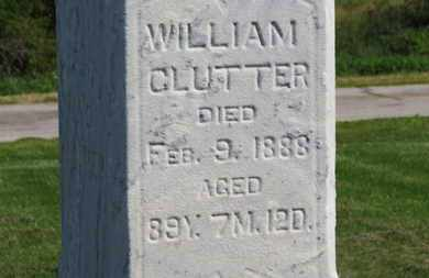 CLUTTER, WILLIAM - Marion County, Ohio | WILLIAM CLUTTER - Ohio Gravestone Photos