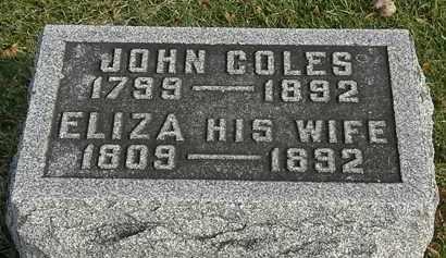 COLES, JOHN - Marion County, Ohio | JOHN COLES - Ohio Gravestone Photos